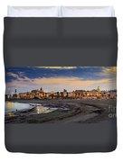 El Rompidillo Beach Panorama Cadiz Spain Duvet Cover