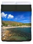 Elba Island - Beach In Seccheto  Duvet Cover
