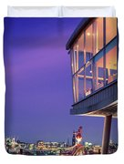 Elbe River With Waterfront Skyline Duvet Cover