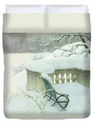 Elbpark In Hamburg Duvet Cover by Fritz Thaulow
