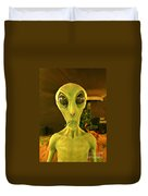 Elderly Alien Duvet Cover