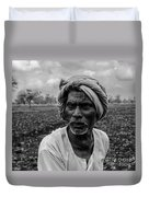 Elderly Indian Farmer Duvet Cover