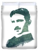 Electric Arc Lamp Patent Art Nikola Tesla Duvet Cover