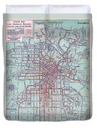 Electric Car And Bus Routes In La  Duvet Cover