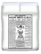 Electric Corset, 1887 Duvet Cover