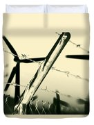 Electric Fence Silhouette Duvet Cover