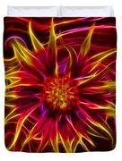 Electric Firewheel Flower Artwork Duvet Cover