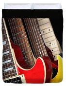 Electric Guitars Closeup Duvet Cover