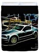 Electric Mustang Duvet Cover
