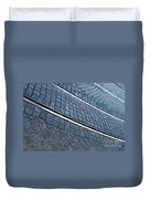 Electric Rail On Portuguese Traditional Pavement Duvet Cover