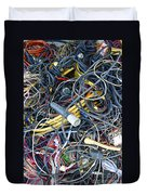Electrical Cord Picking Duvet Cover