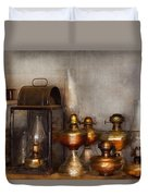Electrician - A Collection Of Oil Lanterns  Duvet Cover