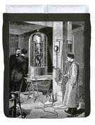 Electroplating The Dead, 1891 Duvet Cover