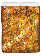 Elegant Autumn Branches Duvet Cover
