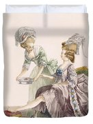 Elegant Lady Having Her Feet Washed Duvet Cover