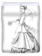 Elegant Lady Duvet Cover
