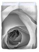 Elegant Rose In Black And White Duvet Cover