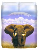 Elephant At Table Mountain Duvet Cover