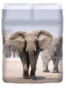 Elephant Bathing Duvet Cover by Johan Swanepoel