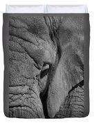 Elephant Bw Duvet Cover