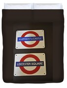 Elephant Castle And Leicester Square Duvet Cover