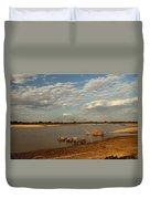 Elephant Crossing Duvet Cover