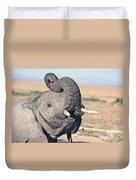 Elephant Curling Trunk Duvet Cover