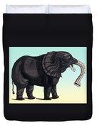 Elephant From The Historiae Animalium 16th Century Duvet Cover