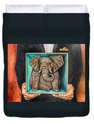 Elephant In A Box Edit 2 Duvet Cover