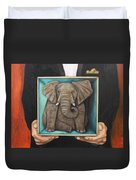 Elephant In A Box Duvet Cover