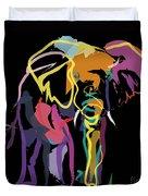 Elephant In Colour Duvet Cover