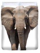 Elephant Isolated Duvet Cover