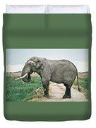 Elephant Roadblock Duvet Cover