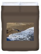 Elephant Seal Sunning On Beach Duvet Cover