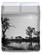 Elephant Skull On Riverbank, Okavango Duvet Cover