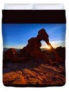 Elephant Sunrise Duvet Cover