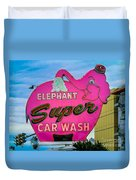 Elephant Super Car Wash Duvet Cover