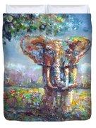 Elephant Thirst Duvet Cover