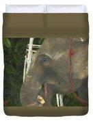 Elephant Under His Thumb Duvet Cover