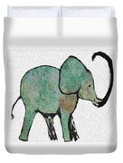 Elephant Water Color Duvet Cover