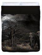 Elephants Of The Serengeti Duvet Cover