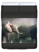 Elephants On The Move Duvet Cover