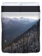 Elevated View Down U-shaped Valley Duvet Cover