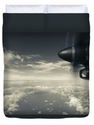 Elevated View Of Caribbean Sea Duvet Cover