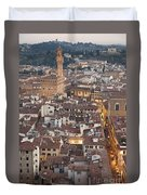 Elevated View Of Florence Duvet Cover