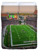 Elevated View Of Gillette Stadium, Home Duvet Cover