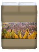 Elevated View Of The Riquewihr Duvet Cover