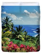 Elevated View Of Trees And Plants Duvet Cover