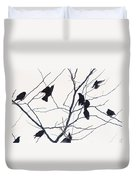 Eleven Birds One Morsel Duvet Cover