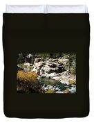 Eleven Mile Canyon - Mountain Stream Duvet Cover
